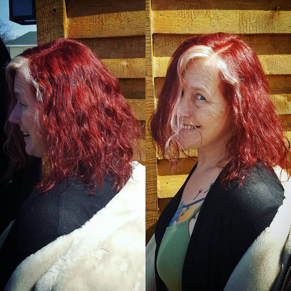 mel hair color haircut hair color highlights traverse city michigan pinups and needles