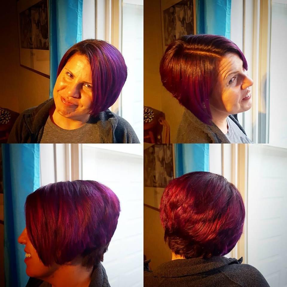 amanda haircut hair color highlights traverse city michigan pinups and needles