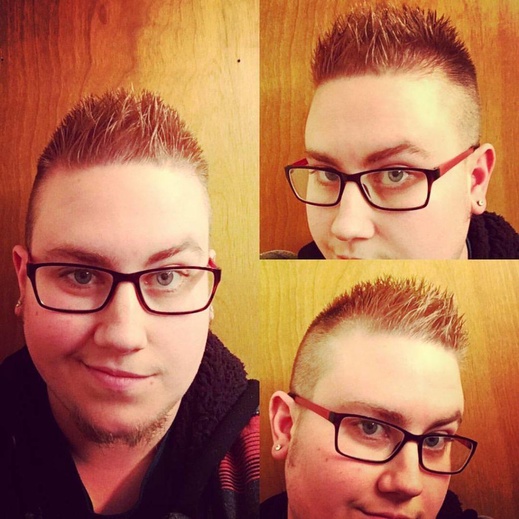 ben mens hair cut highlight traverse city michigan pinups and needles