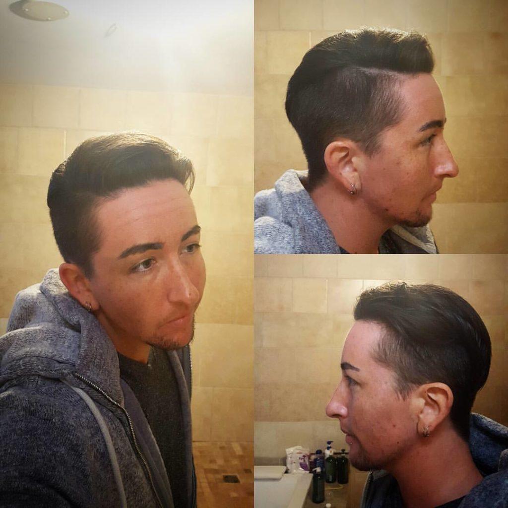charlie hair cut mens hair cut traverse city michigan pinups and needles