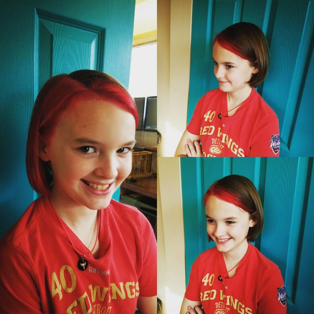 girl kids hair cut traverse city michigan pinups and needles