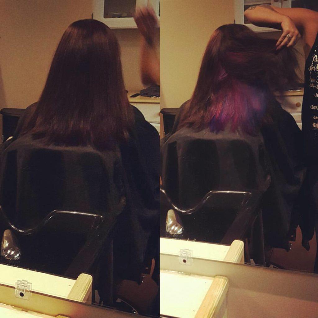 kelly hair color haircut hair color highlights lowlights traverse city michigan pinups and needles