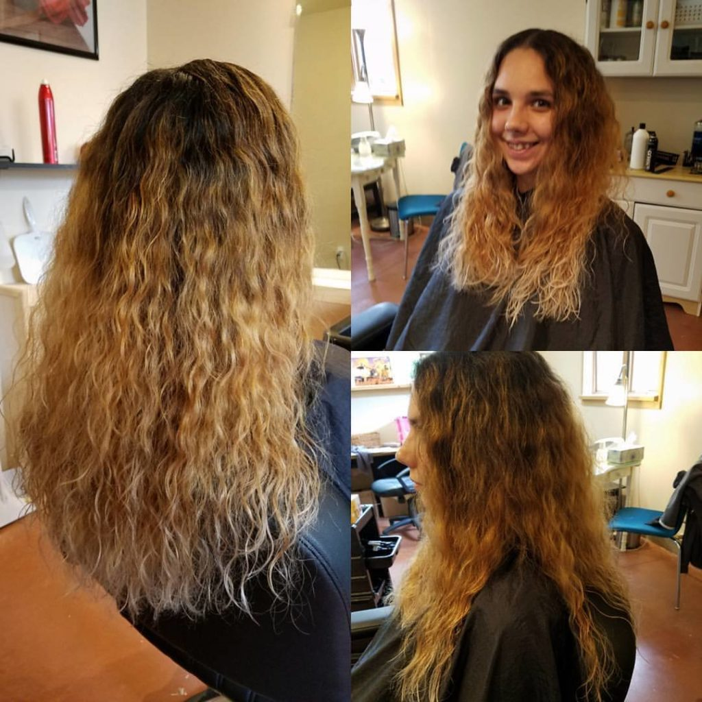 kim haircut hair color highlights traverse city michigan pinups and needles