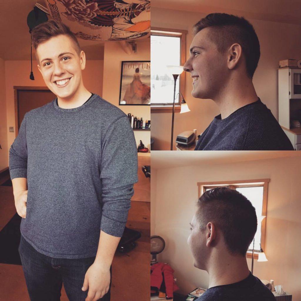 nick mens hair cut traverse city michigan pinups and needles
