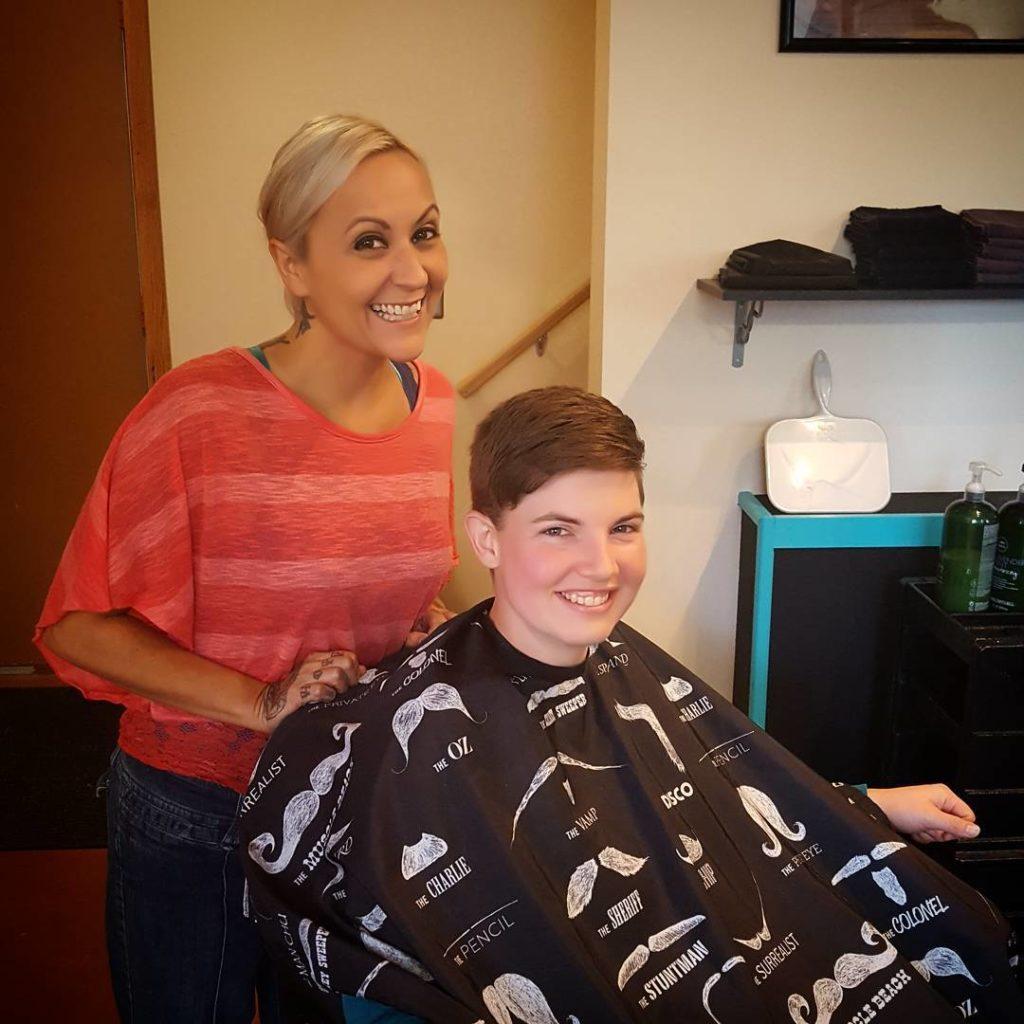 frannie hair cut tattoo parlor traverse city northern michigan beauty hair nail salon