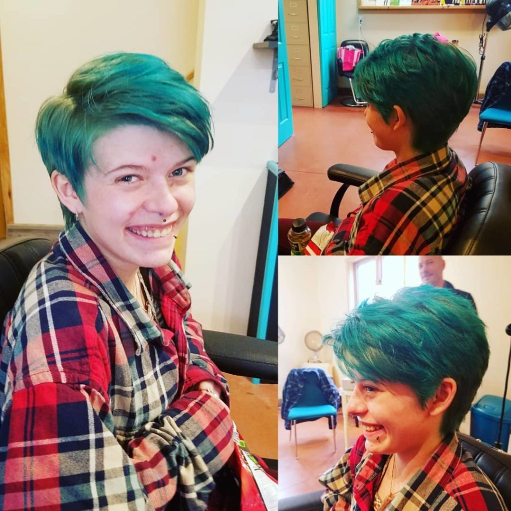 womens haircut color punky color tattoo parlor traverse city northern michigan beauty hair nail salon