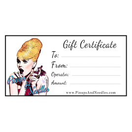 gift certificate pinups & needles tattoo parlor beauty salon traverse city northern michigan