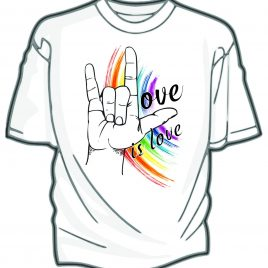 Pride 2018 T Shirt Love is Love