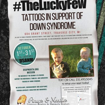 #TheLuckyFew – Tattoos In Support Of Down Syndrome Flash Event 2019