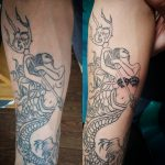charles mermaid cover up tattoo