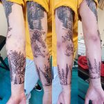 charles tattoo forest arm