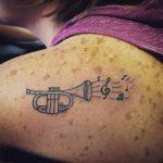 trumpet tattoo