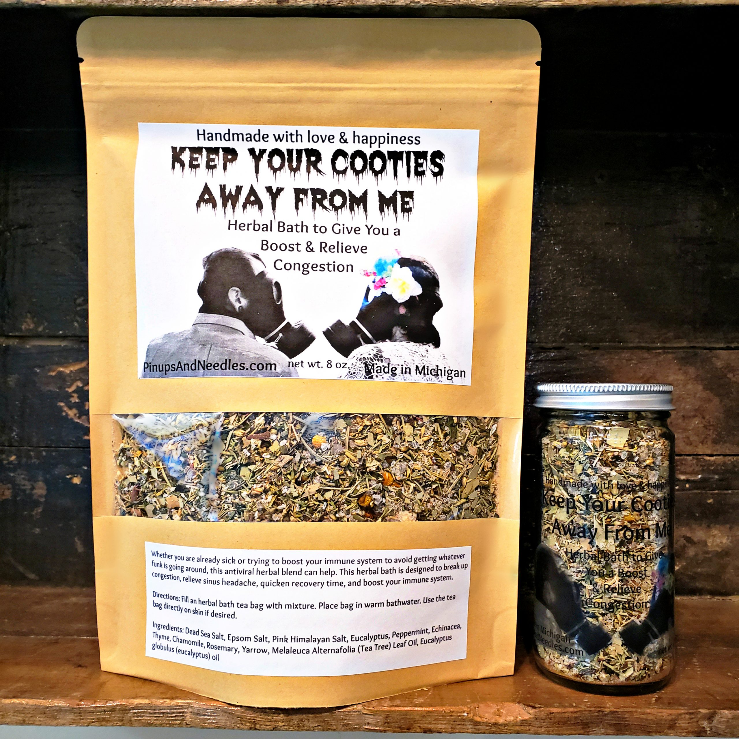Keep Your Cooties Away From Me Herbal Bath to Give You a Boost & Relieve Congestion