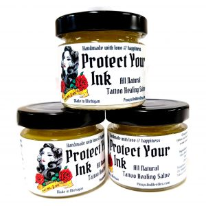pinups and needles protect your ink tattoo aftercare salve
