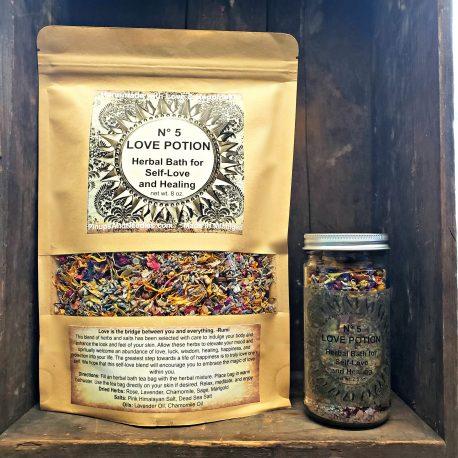 Love Potion No 5 Herbal Bath for Self-Love & Healing