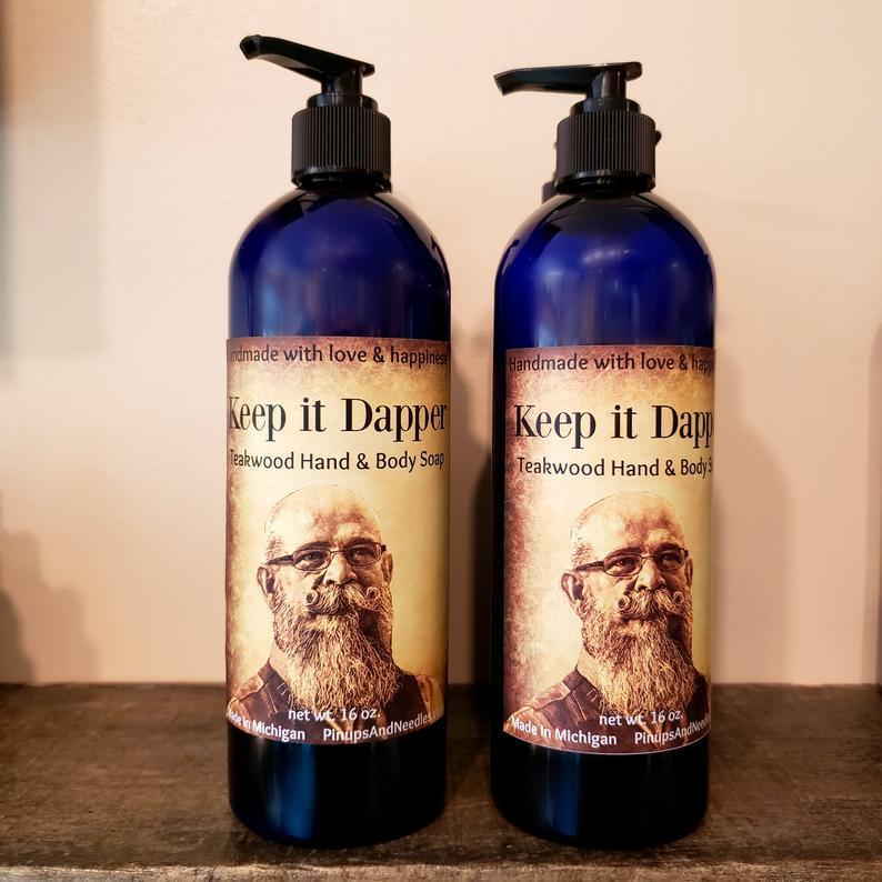 keep it dapper teakwood hand and body wash mens