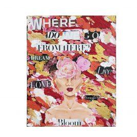 Bloom – Acrylic & Magazine Painting 8×10