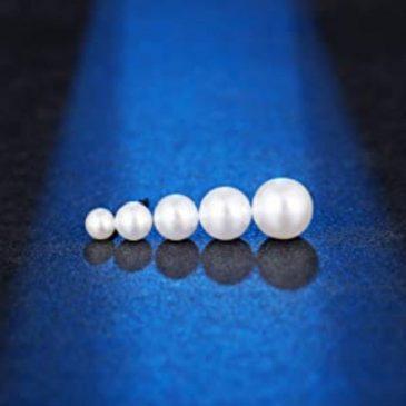 Stud Earrings Pearl Set 4-8mm 18g – Piercing Jewelry – Surgical Grade Stainless Steel