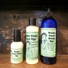 peppermint bundle face wash body and hand wash face moisturizer