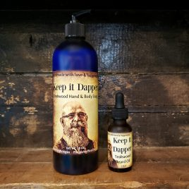 The Dapper Man Gift Box Keep it Dapper: Teakwood Hand & Body Wash Keep it Dapper: Teakwood Beard Oil