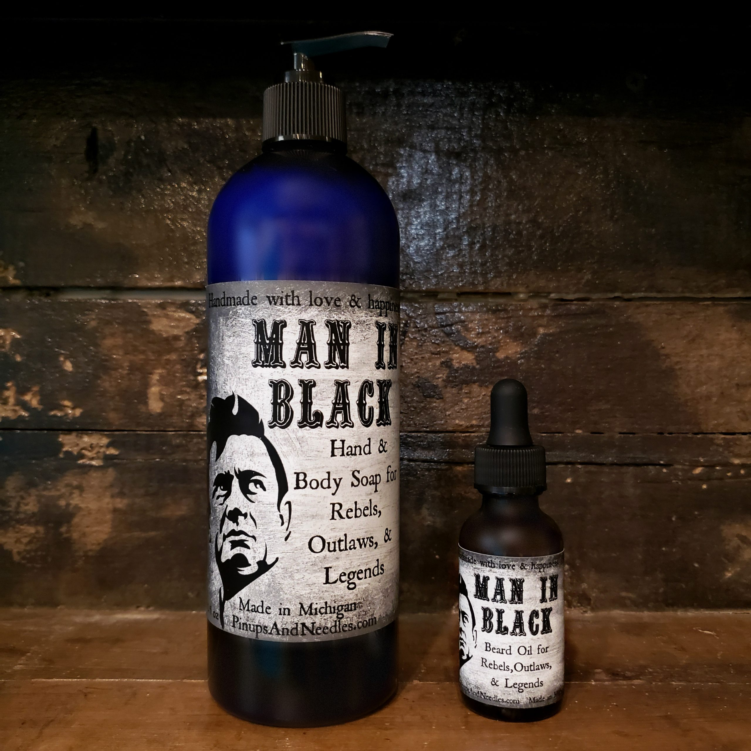 The Man in Black Gift Box Man in Black: Hand & Body Wash for Rebels, Outlaws, & Legends Man in Black: Beard Oil for Rebels, Outlaws, & Legends