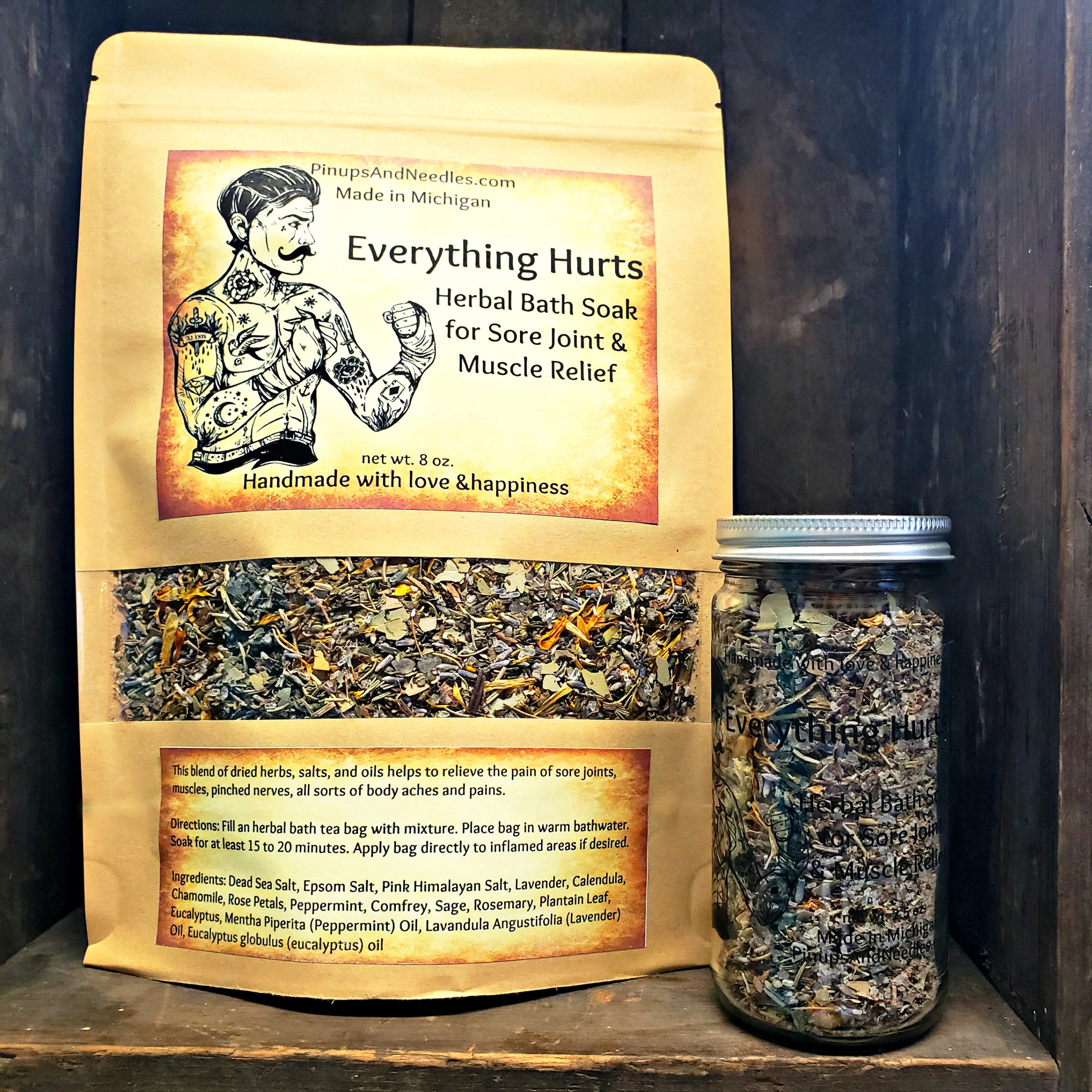 Everything Hurts Herbal Bath Soak for Sore Joint & Muscle Relief