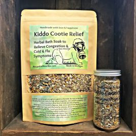 Kiddo Cootie Relief herbal bath soak anti viral