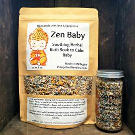 Zen Baby Soothing Herbal Bath Soak to Calm Baby