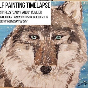 Wolf Painting Timelapse with Baby Handz Presented By Pinups And Needles