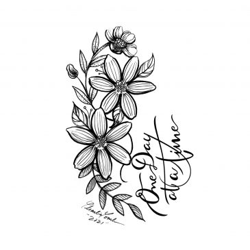 Timelapse Art One Day At A Time Fine Line Flower Drawing