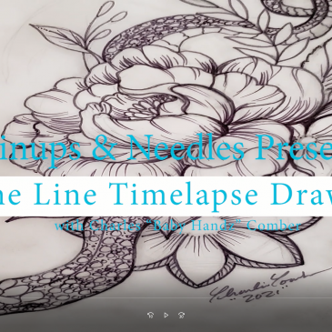 Time-lapse Fine Line Nature Drawing Inspired By Macbeth