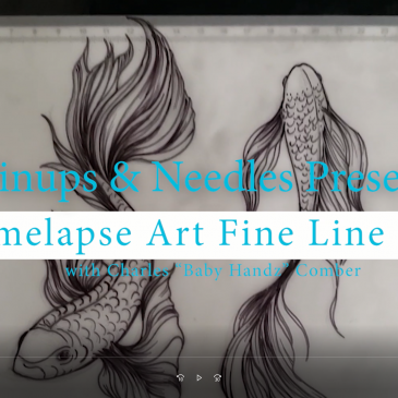 Timelapse Art Fine Line Fish For An Upcoming Tattoo