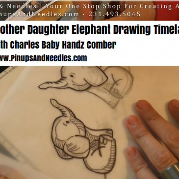 Mother Daughter Elephant Drawing Timelapse