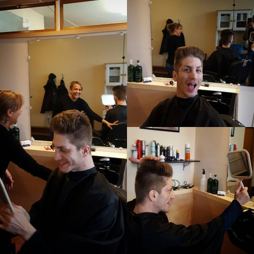 billie mens hair cut traverse city michigan pinups and needles