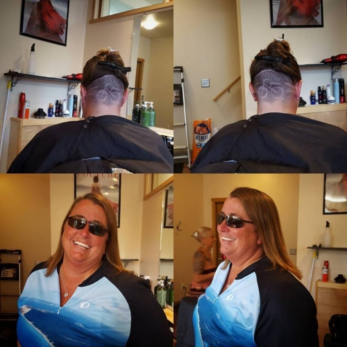 terri pelton bike haircut