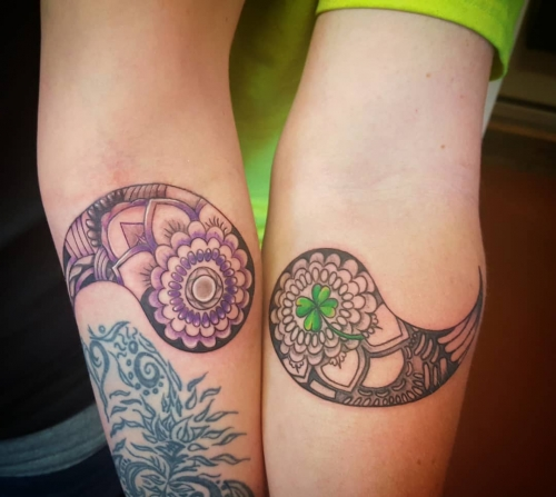 couples tattoo erin tattoo parlor traverse city northern michigan