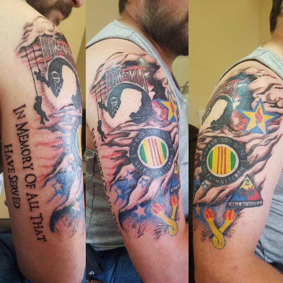 kevin ockhert tattoo sleeve memorial military