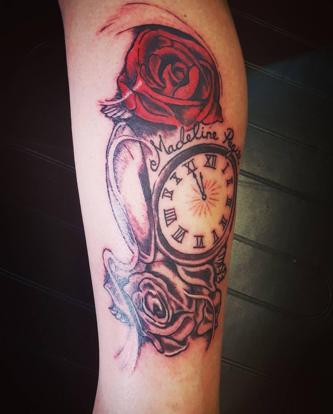 misty hatch rose tattoo